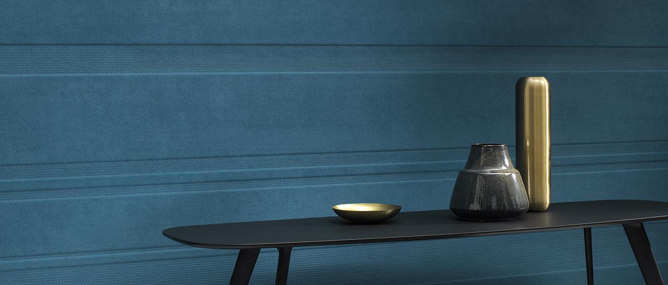 HP revêtement mural acoustique textile 3D Polyform Eos - Texdecor